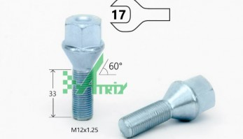 БОЛТ M12X1,25X33