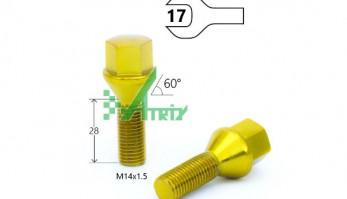 Болт M14X1,50X28 Золотой
